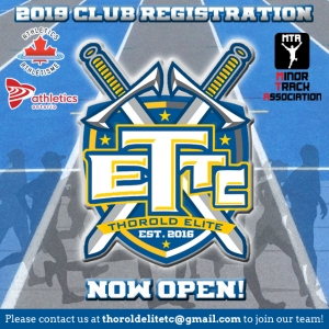 Thorold Elite Track Club - 2019 Member Registration