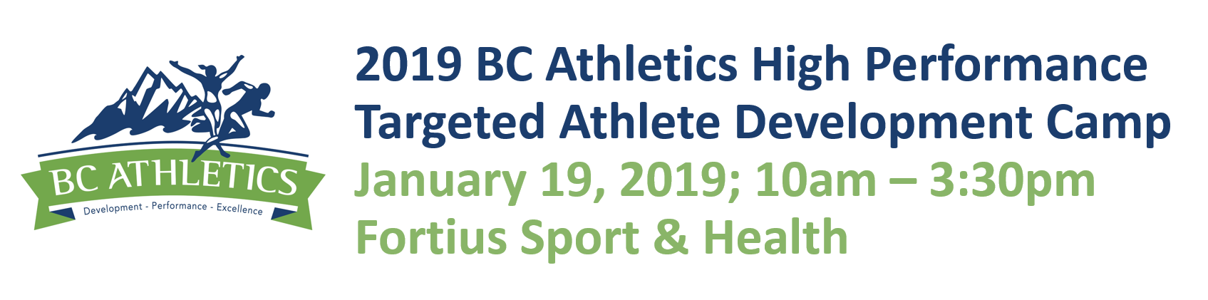2019 BC Athletics High Performance Targeted Athlete Development Camp