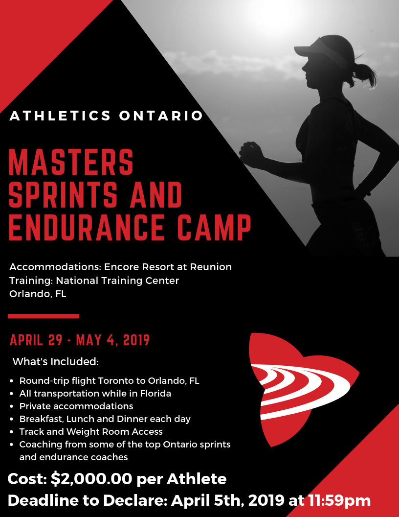 Athletics Ontario Masters Sprints and Endurance Warm Weather Training Camp