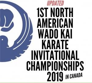 DAN/KYU EXAMS ONLY- 1st North American Wado Kai Karate Invitational Championships 2019