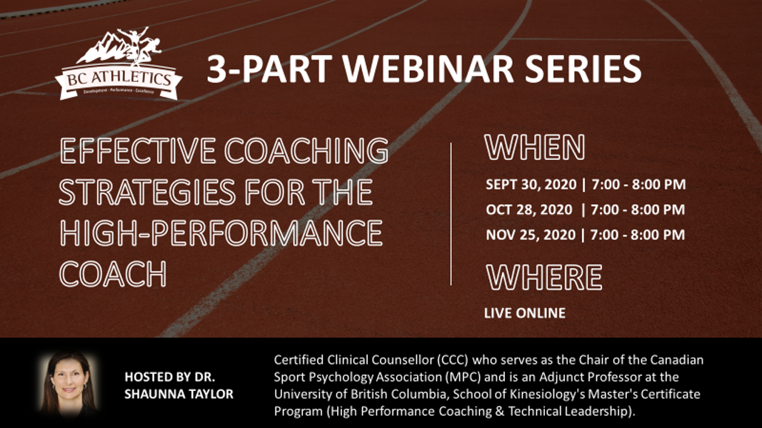 Effective Coaching Strategies for the High Performance Coach - Webinar (1 of 3)