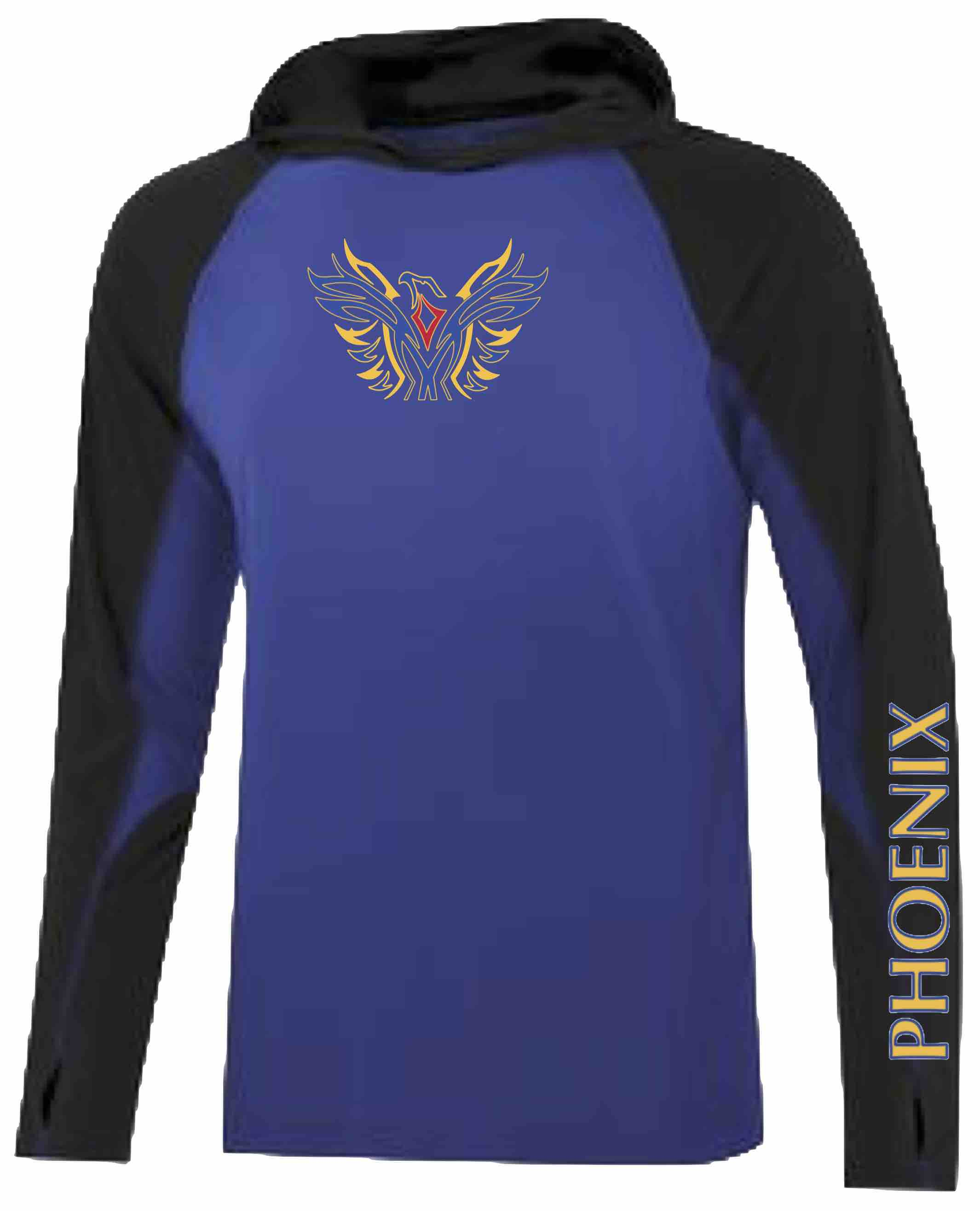 Moisture-Wicking Long Sleeve Hooded T-Shirt