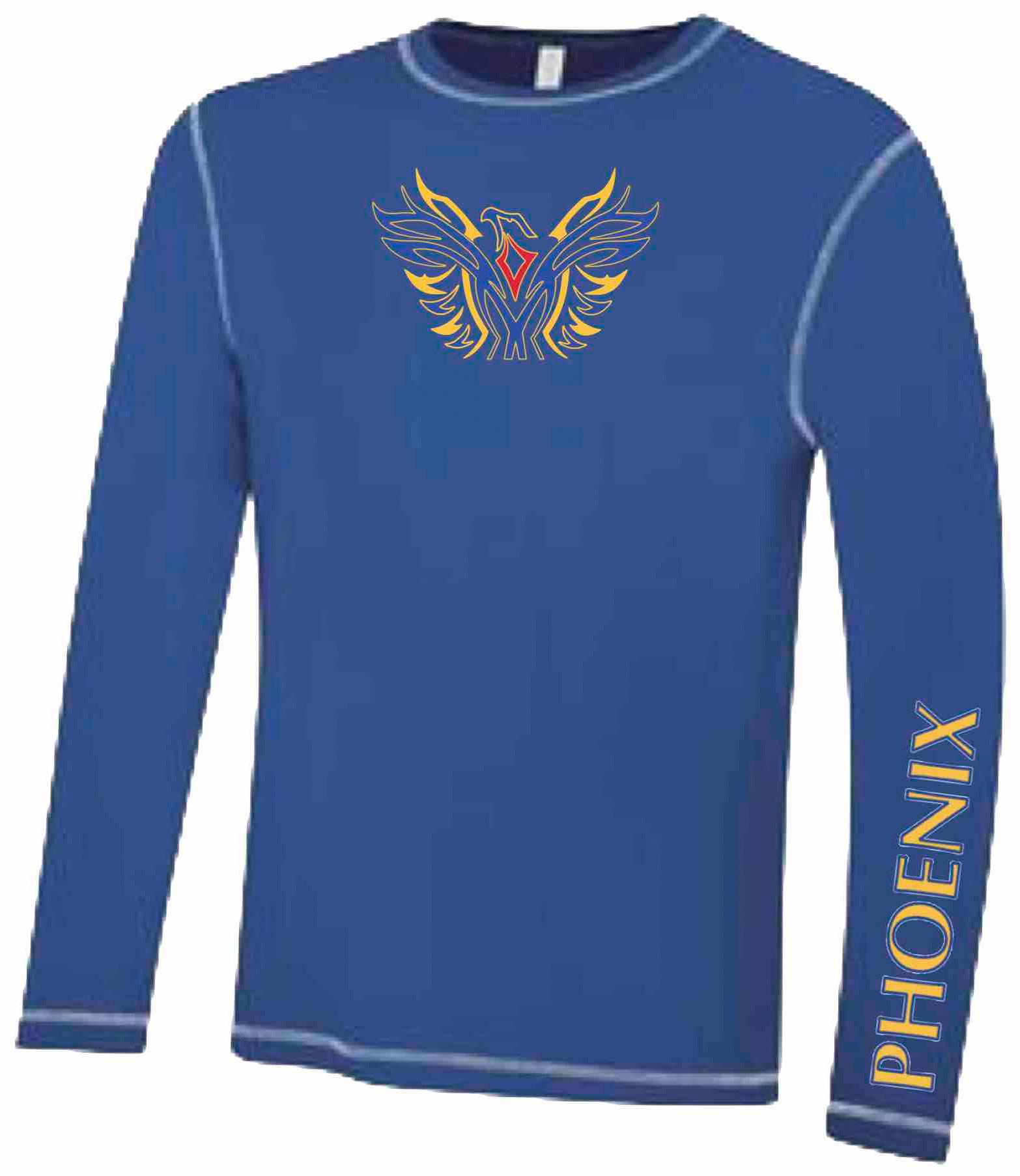 BLUE - Ultra Soft Long Sleeve Technical Shirt