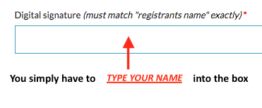 YOU ONLY HAVE TO *TYPE* YOUR NAME